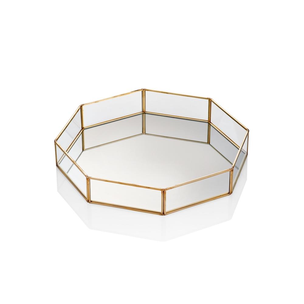 The Mia Brass Dekor Tepsi 26 x 15 Cm